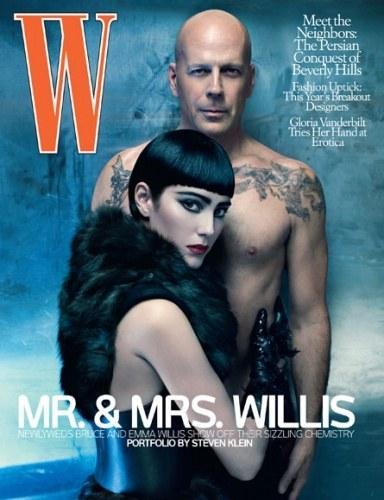 De juillet de w magazine magazineavec sa femme emma heming. 12 photos