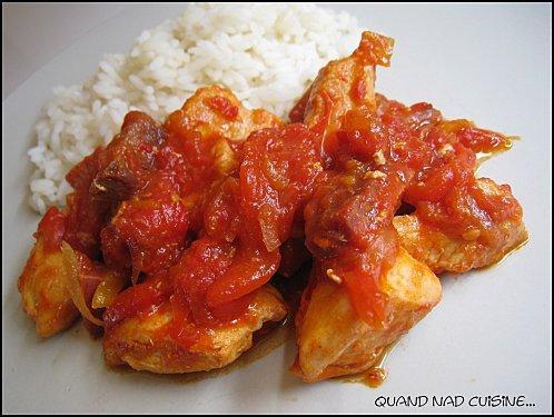 Chicken la basquaise: