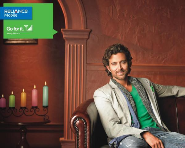 Hrithik Roshan pour Reliance Mobile - Paperblog