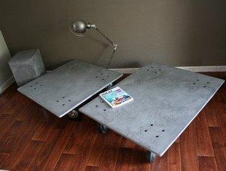 De nouvelles tables b ton design paperblog - Fabriquer une table en beton ...