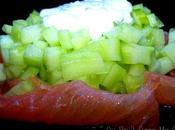 Tartare concombre Saumon Fumé