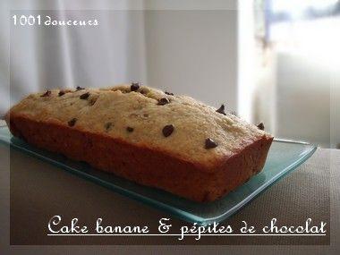 cake la banane p pites de chocolat voir. Black Bedroom Furniture Sets. Home Design Ideas