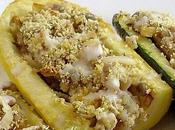 Courgettes farcies sarrasin tofu