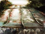 représentation sites industriels, ponts, routes, usines, ports autres aménagements, aquarelle dans médiums