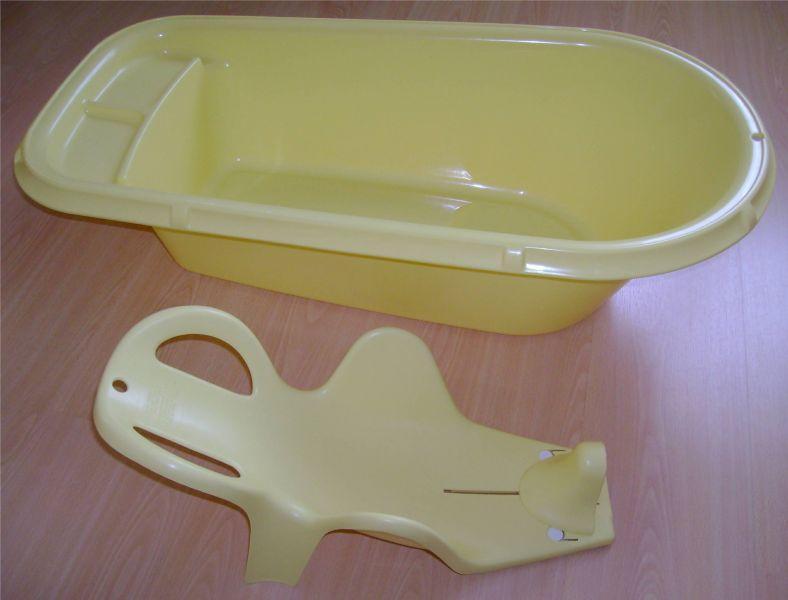 lot baignoire et transat de bain jaune thermobaby etat. Black Bedroom Furniture Sets. Home Design Ideas