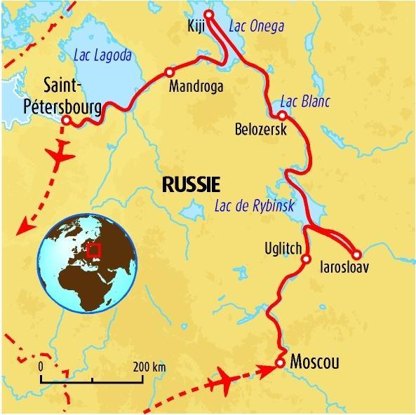 La russie au fil de l'eau de moscou a saint-petersbourg