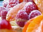Tartelettes saison abricots, framboises, groseilles, fraises, physalis...
