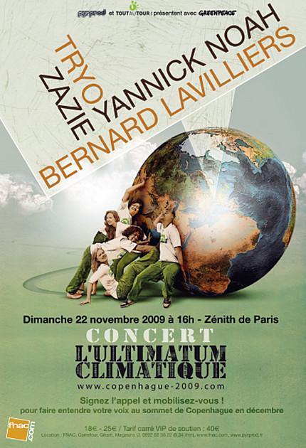 ultimatum climatique, concert 22 novembre dans - Environnement !