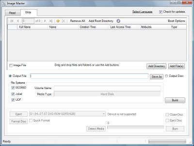 image Master - convertir des images disque