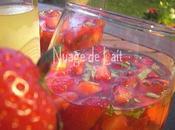 Salade Fraises Basilic Limoncello Verrine
