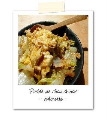 Une belle découverte : le chou chinois !
