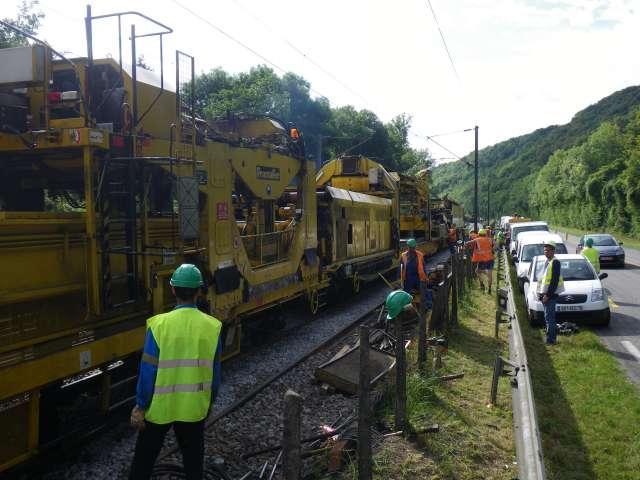 Renouvellement de voies rapide entre Mantes-la-Jolie et Vernon