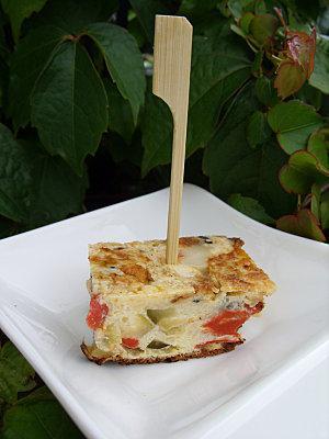 Tortilla courgette/ poivron au comté