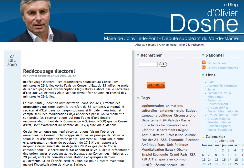 Blog d'Olivier Dosne