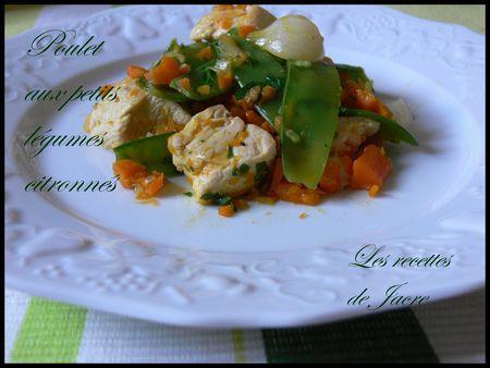 poulet aux petits légumes citronnés