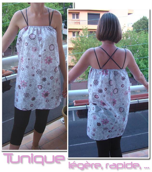Couture : Tunique dos croisé