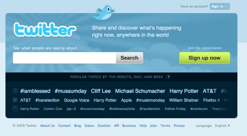 twitter page accueil 1 Twitter.com nouvelle page d'accueil = nouvelle destination de recherche