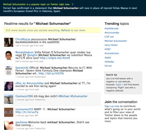 twitter page accueil Twitter.com nouvelle page d'accueil = nouvelle destination de recherche