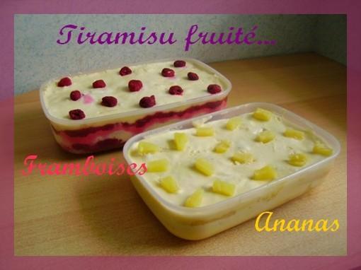Le tiramisu d'été: plutôt ananas ou framboises?