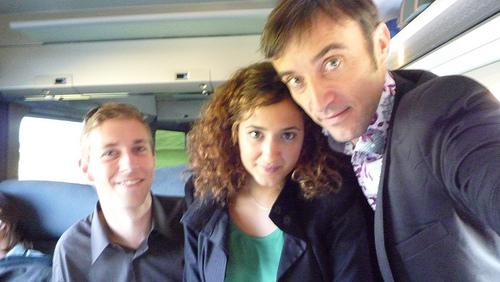 29/07/2009Again in a train but this time with Houda and A...