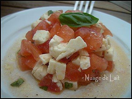 Tartare de Tomates et Féta au Basilic
