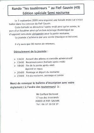 Engagement de la rando les toutérreurs (49) le 5 septembre 2009