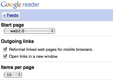 google reader mobile 11 Google Reader en version mobile offre plus de choix de personnalisations