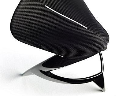 Tabouret de bar design en carbone