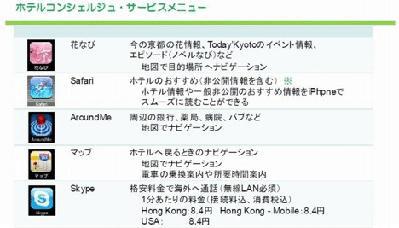 Hyatt Regency offre un iPhone 3GS à ses clients de Kyoto