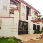 vue de profil de la facade de la résidence