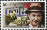 Capablanca en timbre - collection Alain Delobel