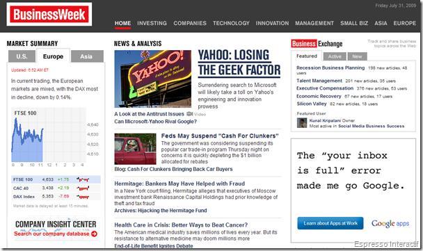 BusinessWeek - Publicité Google