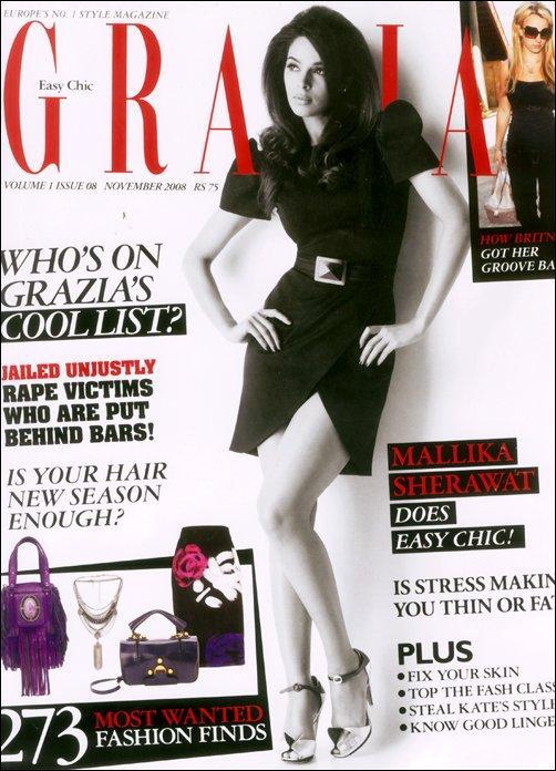 Quand Mallika Sherawat fait la couverture de GRAZIA Magazine