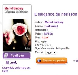 Gallimard sort l'Elégance du hérisson en ebook... chez Hachette