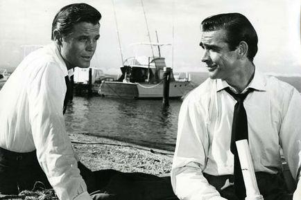 Jack Lord, Sean Connery, Ian Fleming, Terence Young dans James Bond 007 contre Dr. No (Photo)