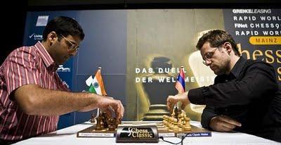 Vishy Anand face à Levon Aronian © Chess Tigers