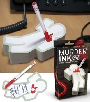 Le bloc-note qui tue, avec tache de sang intégrée