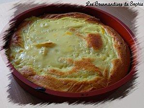 Gâteau brioché à la crème de fleur d'oranger