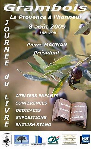 Samedi 8 août : Salon du livre de Grambois (84)