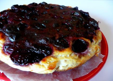 Clafoutis aux cerises en cheesecake