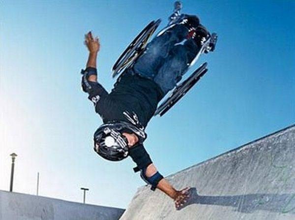 Aaron Fotheringham, athlète en fauteuil roulant.