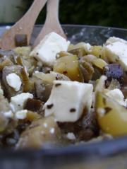 Méli-Mélo de courgettes, aubergine et feta