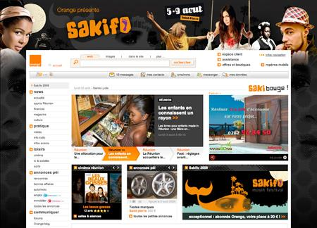 Cahri rhabille Orange