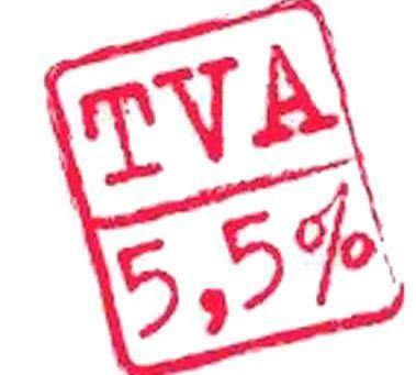 Baisse de la TVA à 5.5%