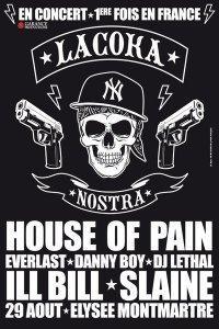 LA COKA NOSTRA aka HOUSE OF PAIN, ILL BILL & SLAINE en concert à PARIS