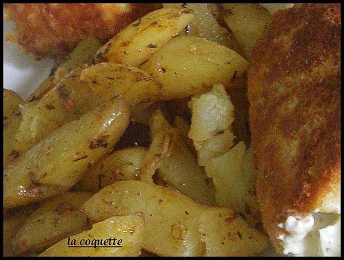 des cordons bleu et des potatoes extra.