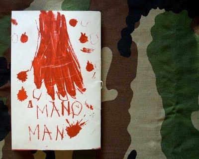 Corona, cahier en édition sérigraphique, Mano Man.