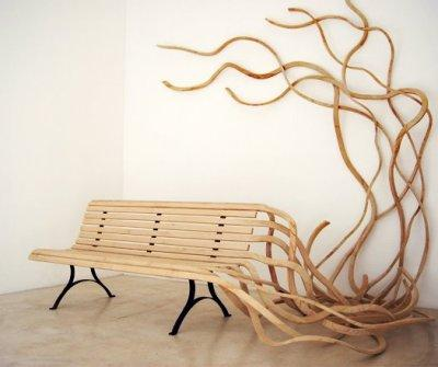 Banc spaghetti par Pablo Reinoso