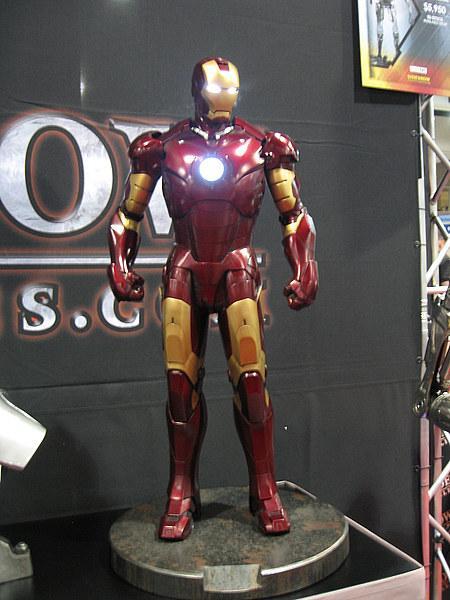 Photos du costume de tony stark prise au Comic Con 2009 Cinecomics