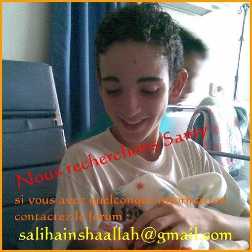 Avis de recherche: Samy Selman 14 ans